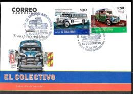 ARGENTINA 2019 TRANSPORT ANCIENNES OLD BUSES VINTAGE FDC, PREMIER JOUR,ERSTTAGBRIEF - Bussen