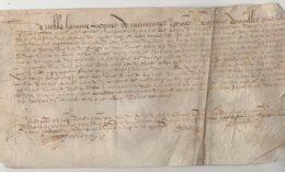 Parchemin Normandie 1603 Aveu  à Jacques De Monsures D'Auvilliers Dim 31 X 17 Cm - Manuscripts
