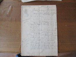 21 JUILLET 1884 VENTE PAR LHOST AUGUSTE CHARRON A HON HERGIES A PHILEMONT CARLOT MARCHAND BRASSEUR A HOUDAIN D'UNE GRANG - Manuscrits