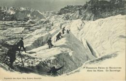 38 - Isère - Dauphiné - Chasseurs Alpins En Manoeuvres Dans Les Alpes - Un Sauvetage - Manovre