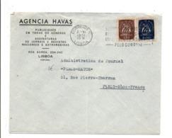 PORTUGAL AFFRANCHISSEMENT COMPOSE SUR LETTRE A EN TETE DE LISBOA POUR LA FRANCE 1951 - Marcophilie