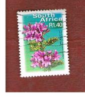 SUD AFRICA (SOUTH AFRICA) - SG 1283   -   2001  FLORA: TREE  PELARGONIUM SELF- ADHESIVE (26 X 35) - USED - África Del Sur (1961-...)