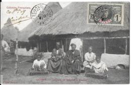 AFRIQUE GUINÉE COLONIES FRANÇAISES JOUEURS DE BALAFON A KINDIA EDIT. SALESSE TP SURCHARGE GUINÉE - Guinée Française