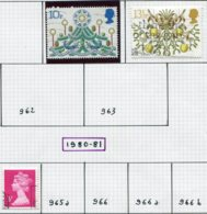 14659 GRANDE-BRETAGNE Collection Vendue Par Page N°960/1, 965, 992/5 °/ * 1979-80  TB - 1952-.... (Elisabeth II.)