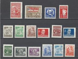 YOUGOSLAVIE.  YT  N° 418/433  Neuf **  1945 - Neufs
