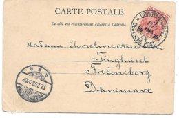 Germany - Constantinopel, Turkey - 20 Para On 10 - Deutsche Post 1903 Postcard To Denmark - Offices: Turkish Empire