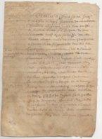 Parchemin Normandie 1670 Aveu  à François De Monsures D'Auvilliers - Manuscrits