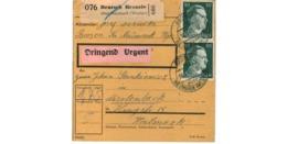 Allemagne  - Colis Postal  Départ Deutsch Brzozie über Neumark  - 26-5-43 - Allemagne