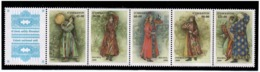 Uzbekistan 2001 . Costumes. Strip Of 5v:45,50,60,90,125 + Label  Michel # 274-78 - Usbekistan