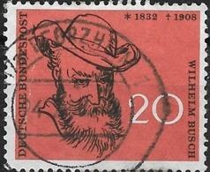 GERMANY 1958 50th Death Anniversary Of Wilhelm Busch (writer And Illustrator) -  20pf. Wilhelm Busch FU - [7] Federal Republic