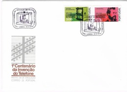 Portugal, 1976, FDC 1º Centenário Da Invenção Do Telefone Por Alexandre Graham Bell(1847-1922), Carimbo De Lisboa - FDC