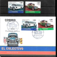 ARGENTINA 2019 TRANSPORT ANCIENNES OLD BUSES VINTAGE FDC,+MNH, PREMIER JOUR+ NEUF,,ERSTTAGBRIEF+POSTFRISCH - Argentina