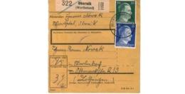 Allemagne  - Colis Postal  Départ  Obornik ( Wartheland ) - Allemagne