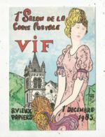 Cp, Bourses & Salons De Collections, 1 Er Salon  De La Carte Postale,1985 , VIF,Isére, Illustrateur Robert Faverboz - Bourses & Salons De Collections