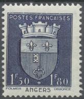 Au Profit Du Secours National. Armoiries De Villes (II) Angers. 1f.50+1f.80 Bleu Foncé Neuf Luxe ** Y558 - France