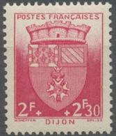 Au Profit Du Secours National. Armoiries De Villes (II) Dijon. 2f.+2f.30 Rouge Neuf Luxe ** Y559 - France
