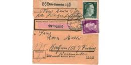 Allemagne  - Colis Postal  Départ  Köln- Lindenthal  -  Pour Kochern ( Cocheren )  - 16-11-42 - Allemagne