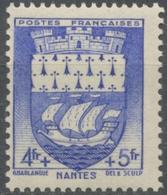 Au Profit Du Secours National. Armoiries De Villes (II) Nantes. 4f.+5f. Outremer Neuf Luxe ** Y562 - Nuovi