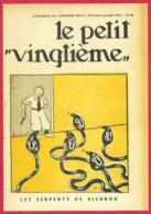 """Le Petit Vingtième. Hergé. Tintin. """"Les Serpents De Vichnou"""". N°45. 9 Novembre 1933. Fac Similé De Couverture. - Vieux Papiers"""