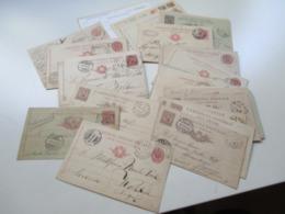 Italien 1885 - 1983 Ganzsachen Posten Mit 40 Stück / Viele Alte!! Auch Zensurstempel. Fast Alle Ins Ausland / Schweiz. - Italia