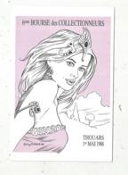 Cp, Bourses & Salons De Collections, 6 E Bourse Des Collectionneurs , 79 , THOUARS , 1988, Illustrateur Guy Roger - Bourses & Salons De Collections