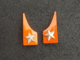 Coppia Di Mostrine Ridotte Da Camicia Reparti Autonomi E.I. Anni '60 Originali - Esercito