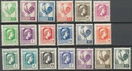 Série D'Alger. Coq Et Marianne (d'Alger). N°630 à 648 Neuf Luxe ** Y648S - Nuovi