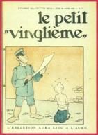 """Le Petit Vingtième. Hergé. Tintin. """"L'execution Aura Lieu à L'aube"""". N°17. 25 Avril 1935. Fac-similé De Couverture. - Vieux Papiers"""