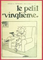 """Le Petit Vingtième. Hergé. Tintin. """"Tintin Attaqué Au Couteau"""". N°4. 30 Janvier 1936. Fac-similé De Couverture. - Vieux Papiers"""