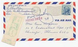 Cover / Postmark USA 1967 Postage Due / Taxe Meter - Vignettes ATM - Frama
