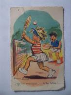 Cpa  Germaine Bouret Enfants Tennis - Bouret, Germaine