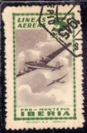 SPAIN ESPAÑA SPAGNA 1945 Viñeta Local LINEAS AEREAS IBERIA Cts. 5c USED USATO OBLITERE' - Vignette Della Guerra Civile
