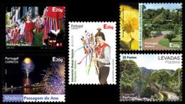 Madère Madeira Portugal 373/77 Réimpressions Autoadhésifs, Culture, Flore, Nouvel An - Madère