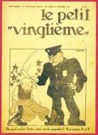 """Le Petit Vingtième. Hergé. Tintin. """"De Quel Méfait Tintin..."""". N°43. 15 Octobre 1931. Fac-similé De Couverture. - Vieux Papiers"""