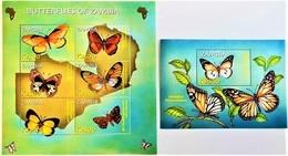 # Zambia 2002**Mi.1424-30 Native Butterflies , MNH [25;106] - Schmetterlinge