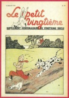 """Le Petit Vingtième. Hergé. Tintin. """"Tintin Et Milou Poursuivit..."""". N°28. 15 Juillet 1937. Fac-similé De Couverture. - Vieux Papiers"""