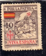 SPAIN ESPAÑA SPAGNA 1937 Viñeta Local POR LA PATRIA VIVA ESPAÑA EMISION NACIONALISTA IMPRESOR ROEL CORUÑA CENT. 10c MH - Vignette Della Guerra Civile