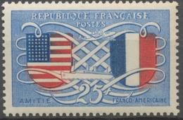 Amitié Franco-américaine. Ecussons Des Etats-Unis Et De La France. 25f. Bleu Et Rouge Neuf Luxe ** Y840 - Nuovi