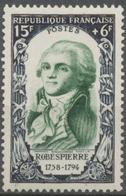 Célébrités Du XVIIIe Siècle (II).  Maximilien De Robespierre  15f. + 6f. Vert. Neuf Luxe ** Y871 - Francia