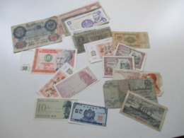 Kleines Konvolut Banknoten Ab Deutsches Reich 1914 - Europa Und Etwas Asien Und Südamerika! 20 Scheine - Munten & Bankbiljetten