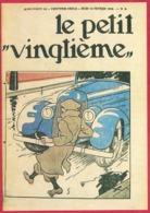 """Le Petit Vingtième. Hergé. Tintin. """"Tintin échappe A Un Attentat"""". N°6. 13 Fevrier 1936. Fac-similé De Couverture. - Vieux Papiers"""