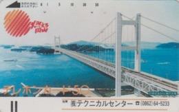 Télécarte Ancienne Japon UNDER 1000 / 110-787 - PONT 6 - BRIDGE Japan Front Bar Phonecard / A - BRÜCKE Balken TK - Japan