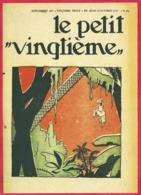 """Le Petit Vingtième. Hergé. Tintin. """"Tintin Suspendu à Un Arbre"""". N°41. 12 Octobre 1933. Fac-similé De Couverture. - Vieux Papiers"""