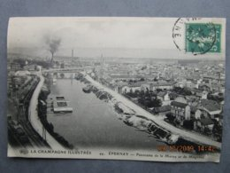 CPA 51 EPERNAY - Panorama De La Marne Et De Magenta,  Entrepôt De La Maison THIL  Gare De Marchandises Chemin De Fer - Epernay
