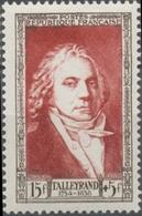Célébrités Du XIXe Siècle; Charles-Maurice De Talleyrand-Périgord Par Prud'hon 15f+ 5f. Brun Carminé. Neuf Luxe ** Y895 - Nuovi