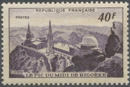 Monuments Et Sites. Pic Du Midi De Bigorre Et Observatoire. 40f. Violet Foncé. Neuf Luxe ** Y916 - France
