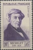 Célébrités Du XIIe Au XXe Siècles. Jules Michelet, Historien  20f. + 6f. Violet. Neuf Luxe ** Y949 - France