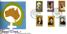 AUSTRALIA FDC FAMOUS WOMEN 6 STAMPS  X 10 CENTS DATED 06-08-1975 CTO SG? READ DESCRIPTION!! - 1966-79 Elizabeth II