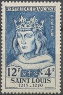 Célébrités Du XIIIe Au XXe. Louix IX, Saint-Louis. Roi De France De 1226 à 1270 12f. + 4f. Bleu. Neuf Luxe ** Y989 - Nuovi