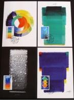 Liechtenstein 1997: Hommage Von Heinz Mack Zu 1109-1112 Mi 1167-1170 Yv 1108-1111 Auf MK-Set 157 (CHF 7.00) - Modern